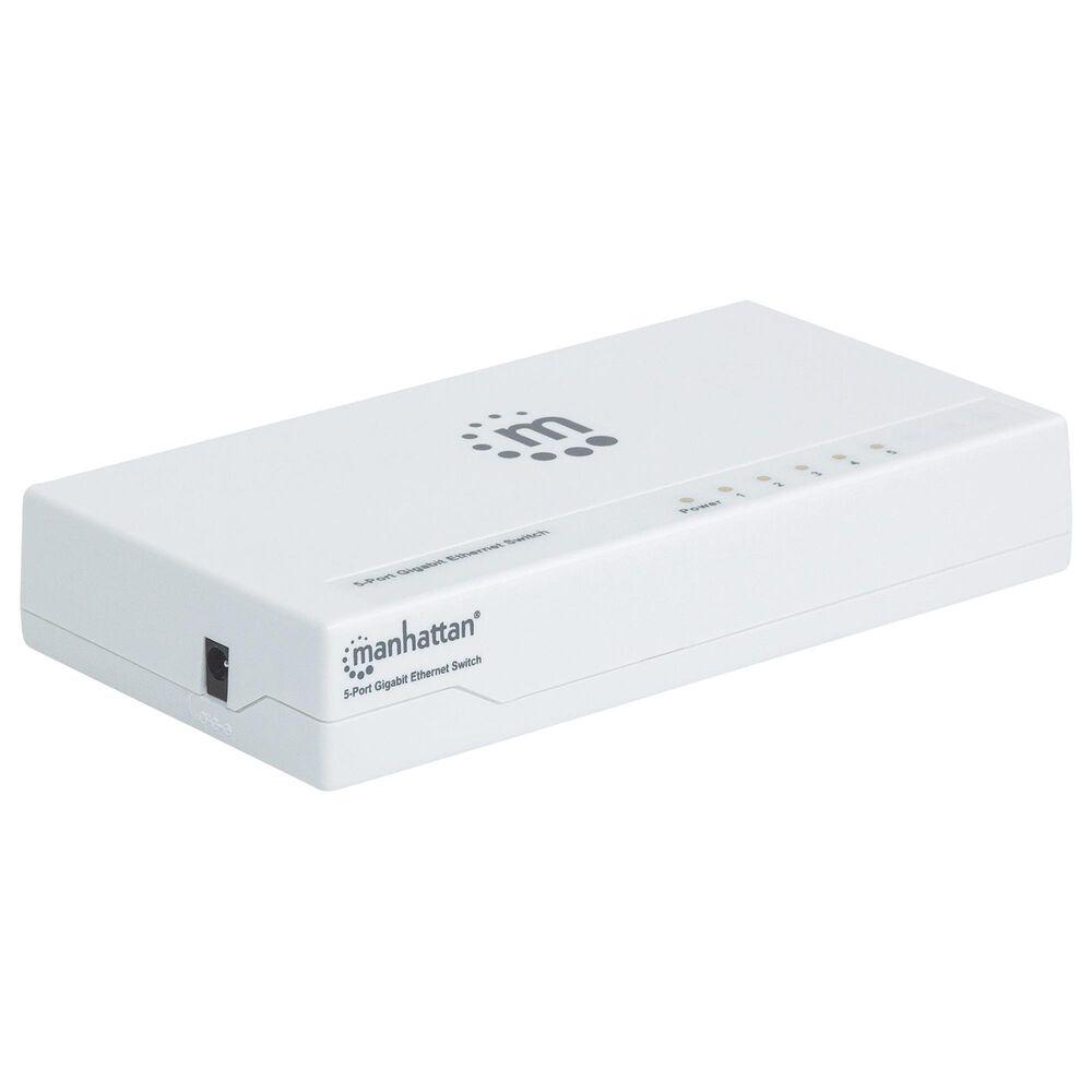 Manhattan 5 Port Desktop Gigabit Ethernet Switch in White, , large