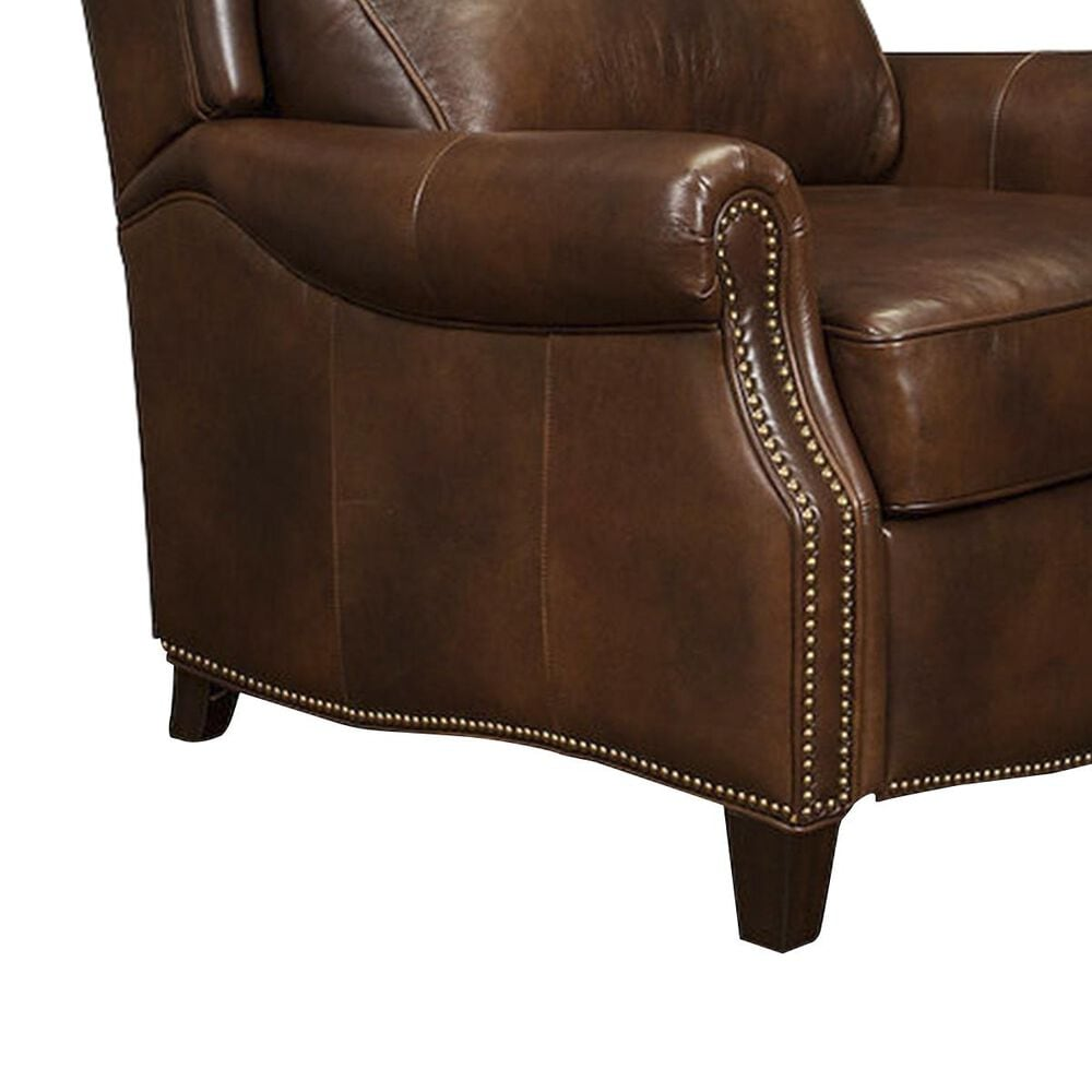 Barcalounger Meade Leather Recliner in Worthington Cognac, , large