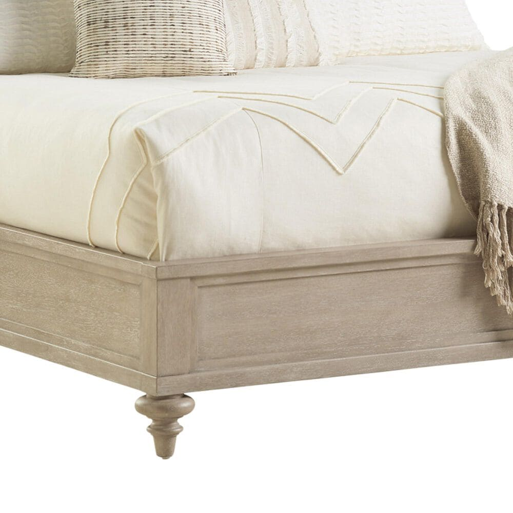 Lexington Furniture Malibu Zuma King Upholstered Panel Bed in Warm Taupe, , large