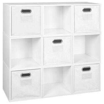 Regency Global Sourcing Niche Cubo 14-Piece Storage Set in White Wood Grain/White, , large