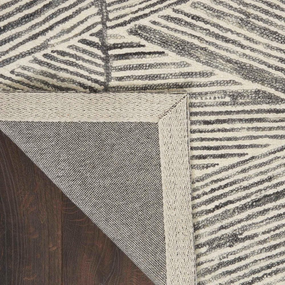"""Nourison Colorado 7'9"""" x 9'9"""" Grey and White Area Rug, , large"""
