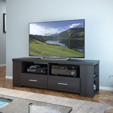 "CorLiving Bromley 60"" TV Component Bench in Ravenwood Black, , large"