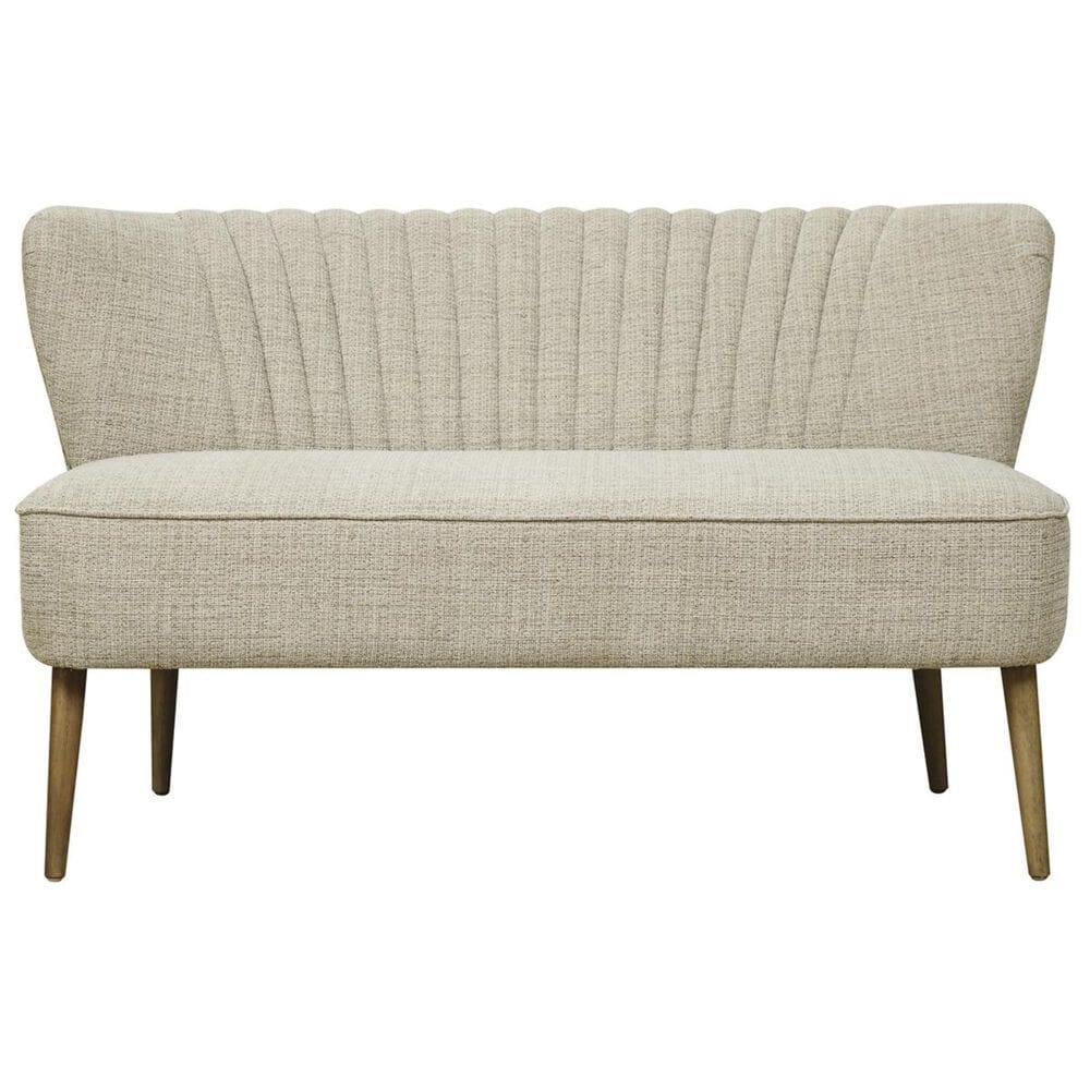 Accentric Approach Accentric Accents Loveseat in Oatmeal Beige, , large