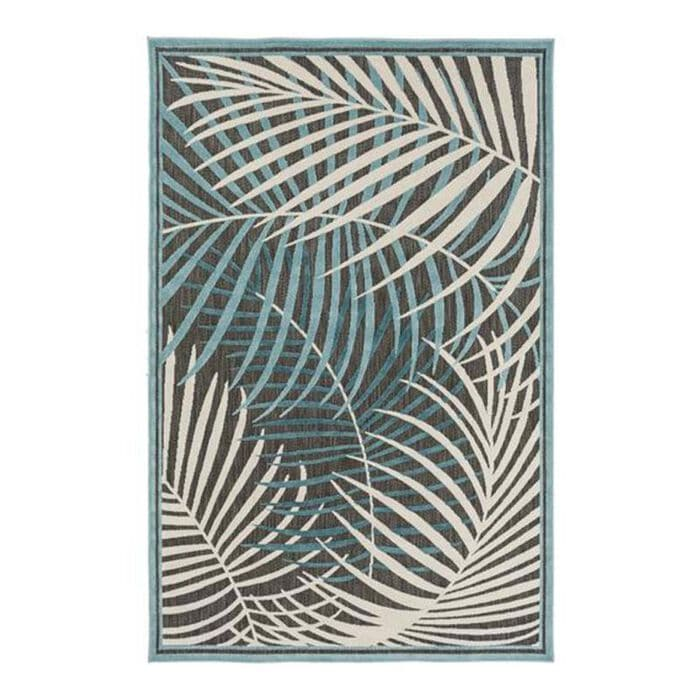 Surya Portera PRT-1062 4 feet 7 inches x 6 feet 7 inches Teal/Aqua/Ivory Area Rug