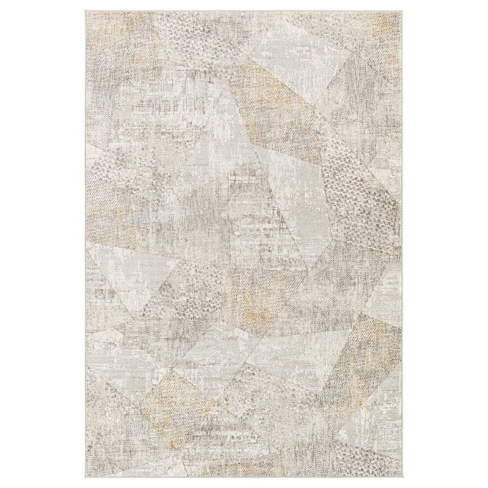 "Surya Carmel 5' x 7'3"" White, Ivory, Gray and Taupe Area Rug, , large"