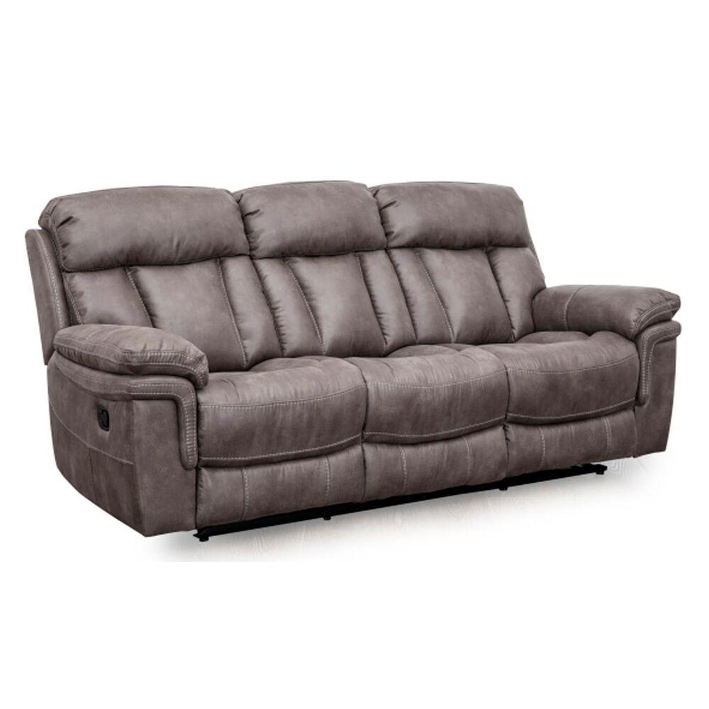 Oxford Furniture Reclining Sofa in Gunmetal Gray, , large
