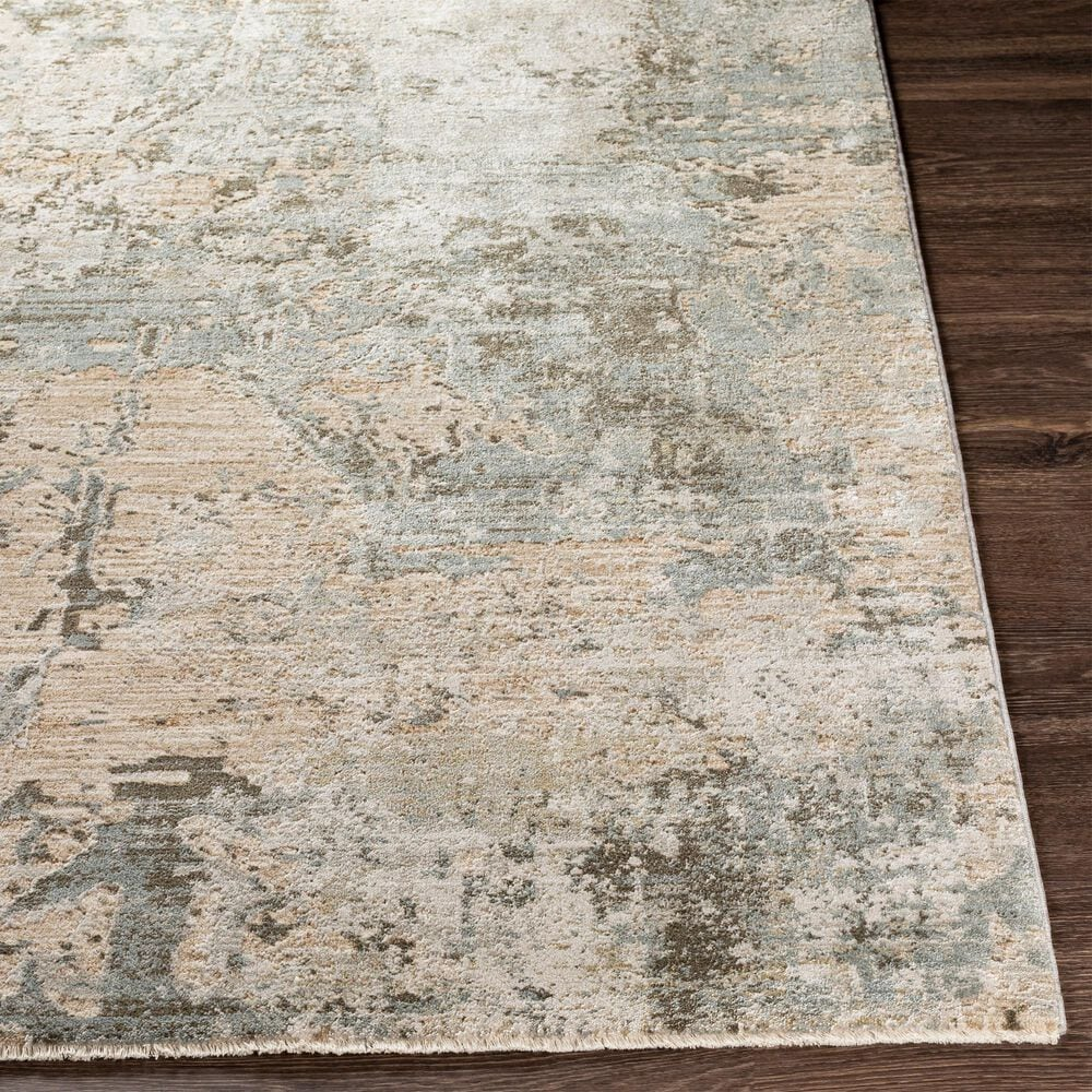 Surya Brunswick 10' x 14' Sage, Gray, White, Blue and Brown Area Rug, , large
