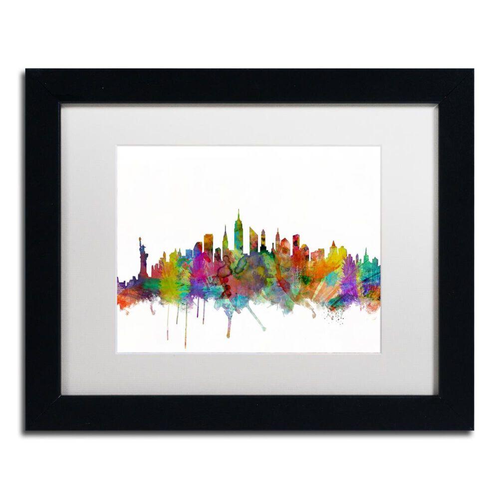 Timberlake Michael Tompsett New York City Skyline Matted Framed Art, , large