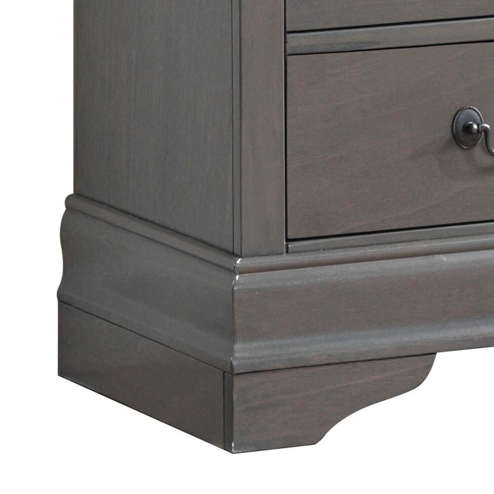 Furniture of America Lambert 2 Drawer Nightstand in Gray, , large