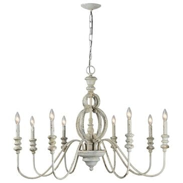 Southern Lighting Asa Chandelier in White, , large
