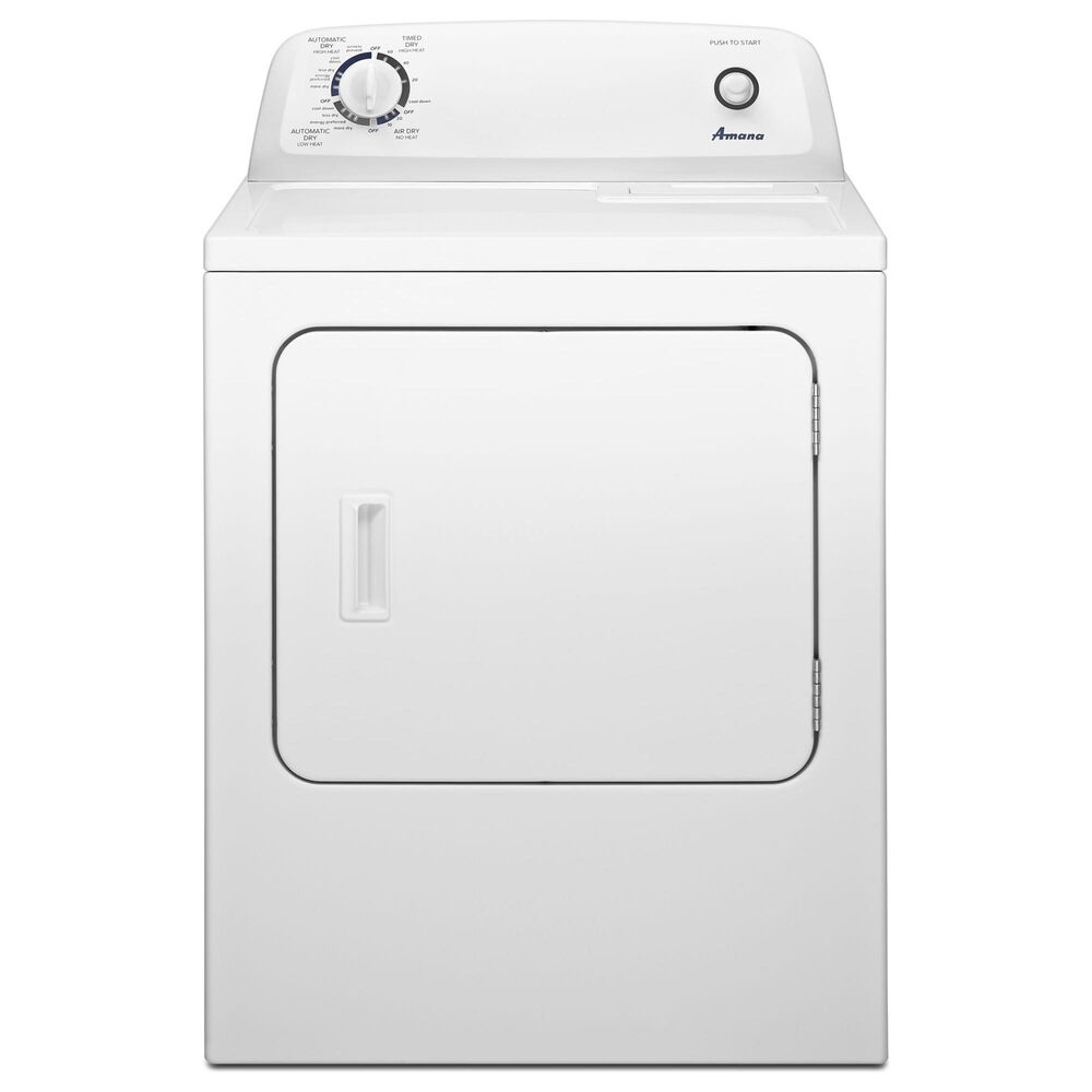 Amana 3.5 Cu. Ft. Top Load Washer and 6.5 Cu. Ft. Electric Dryer in White, , large