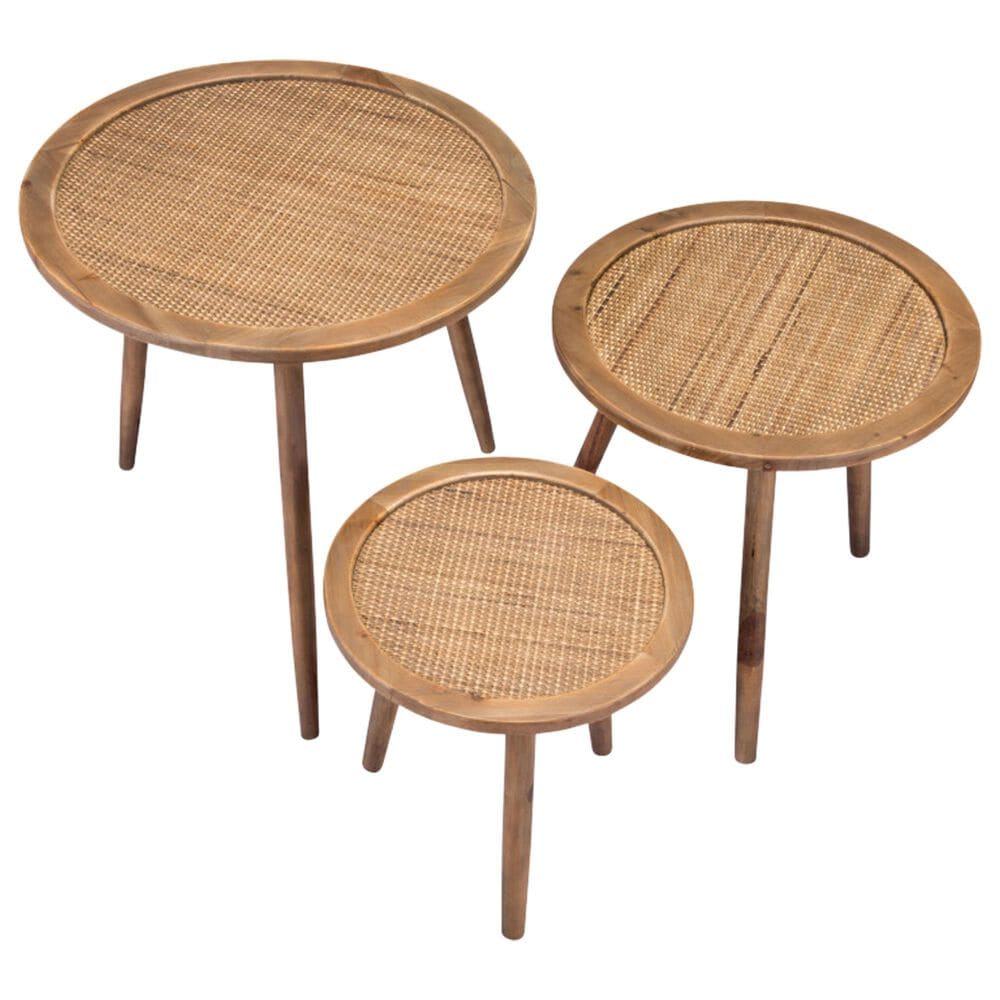 Zuo Modern Paul Accent Tables in Natural (Set of 3), , large