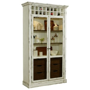 "Chapel Hill 47.25"" PFC Curio in Antique White, , large"