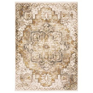 Oriental Weavers Maharaja Terrell 661C 2' x 3' Gold and Ivory Scatter Rug, , large