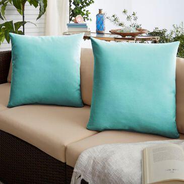 "Sorra Home Sunbrella 22"" Pillow in Canvas Aruba (Set of 2), , large"