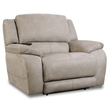 HomeStretch Triple Power Reclining Chair and a Half in Nickel, , large