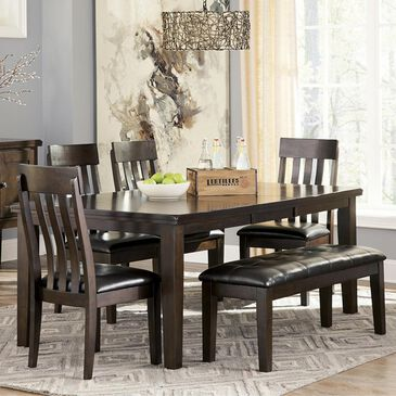 Signature Design by Ashley Haddigan 6-Piece Dining Set in Dark Brown, , large