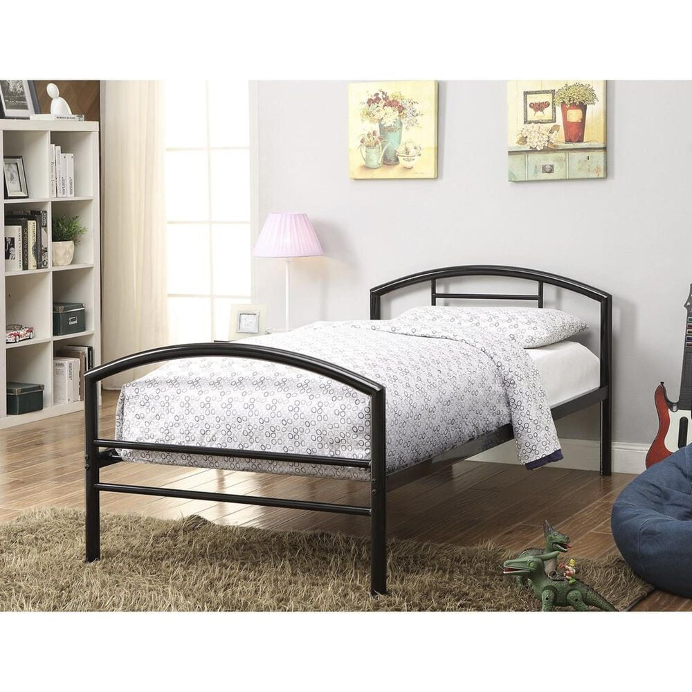 Pacific Landing Bailey Twin Bed in Black, , large