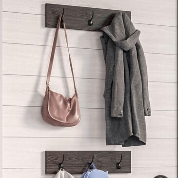 RiverRidge Home Afton 3-Hook Coat Rack in Dark Weathered Woodgrain (Set of 2), , large