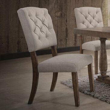 Gunnison Co. Duke Linen Upholstered Side Chair in White Oak, , large