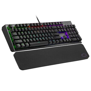 Cooler Master CK550 V2 Gaming Mechanical Keyboard Red Switch with RGB Backlighting, On-The-Fly Controls, and Hybrid Key Rollover, , large