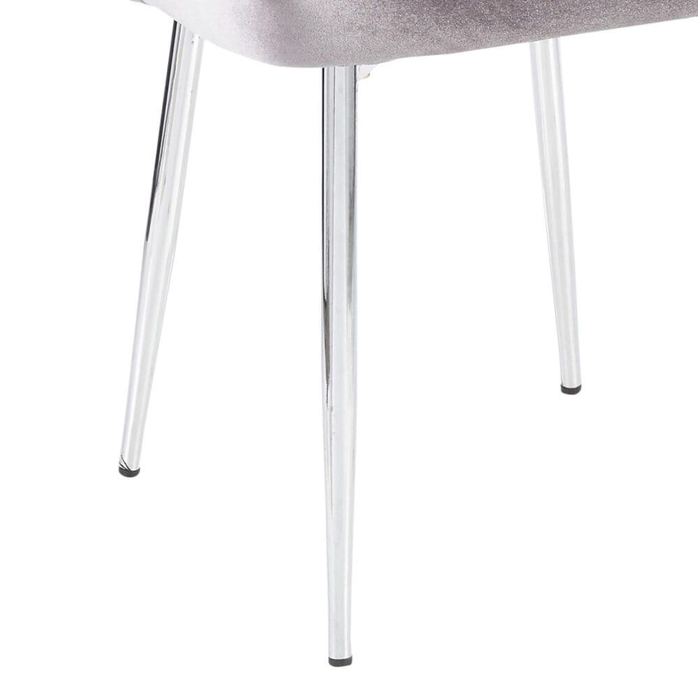 Lumisource Marcel Dining Chair in Silver/Chrome (Set of 2), , large
