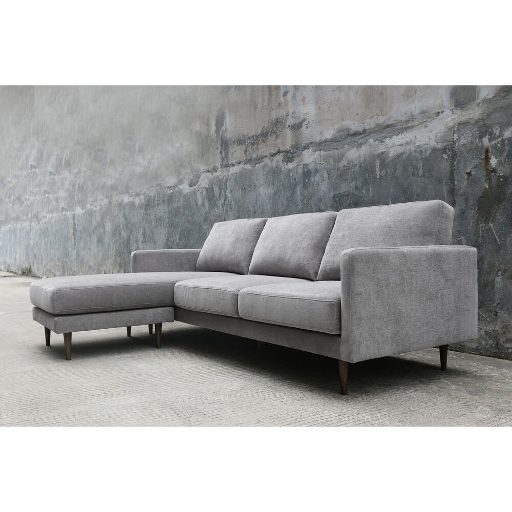 37B Kelsey Reversible Chaise Sectional in Grey, , large