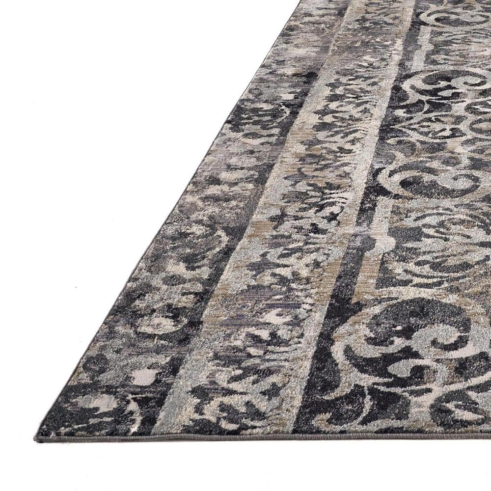 """Feizy Rugs Kano 3871F 6'7"""" x 9'6"""" Charcoal and Ivory Area Rug, , large"""