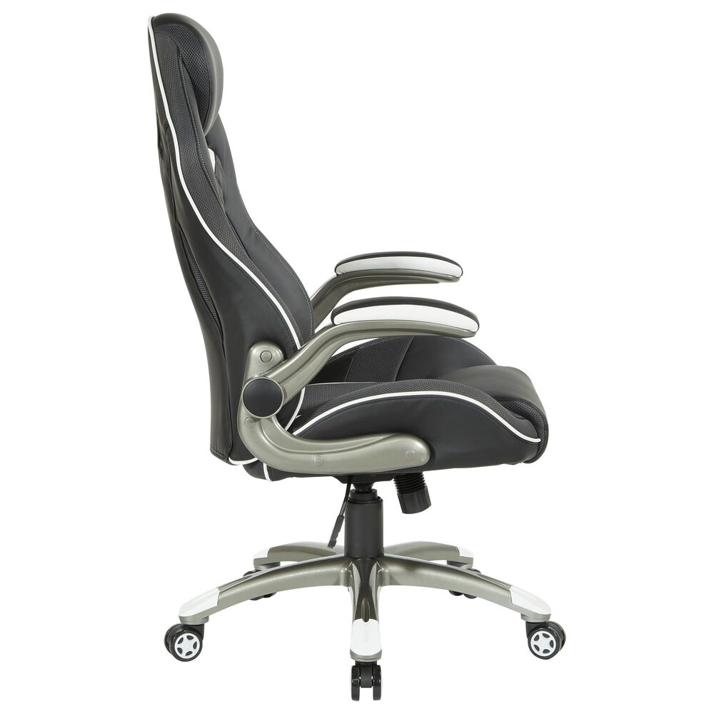 OSP Home Explorer 51 Gaming Chair in Black and Gray, , large
