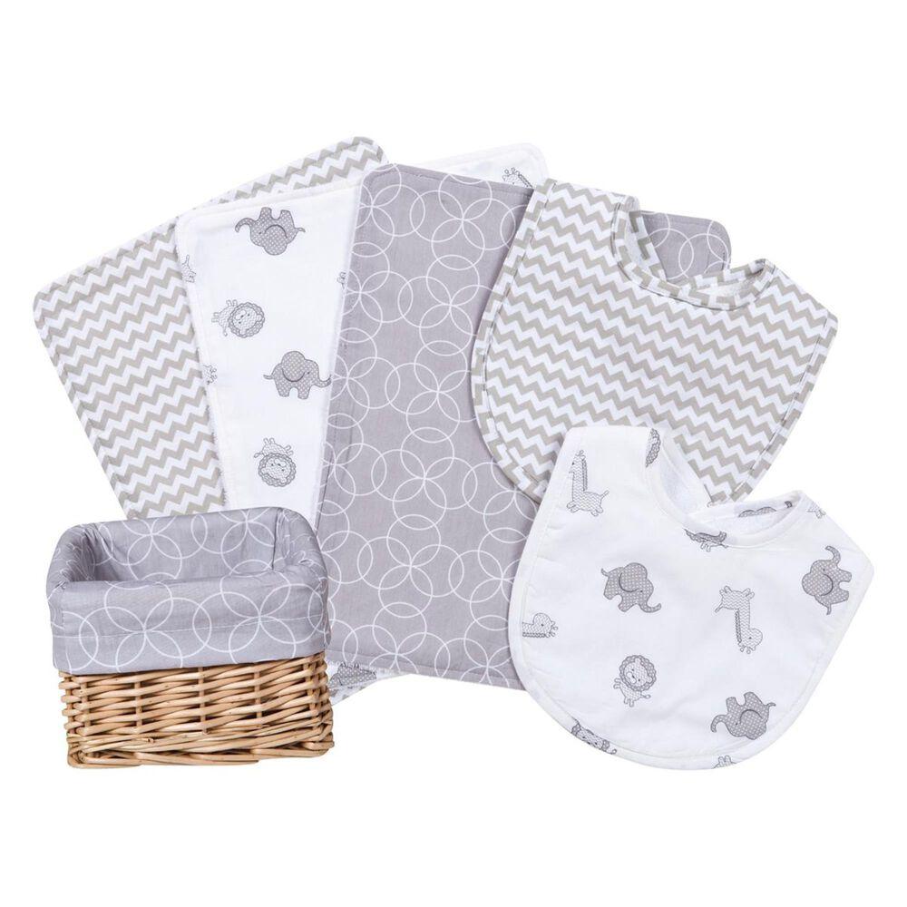 Trend Lab LLC Safari Gray 7-Piece Feeding Basket Gift Set, , large