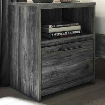Signature Design by Ashley Baystorm 1-Drawer Nightstand in Smoke Gray, , large