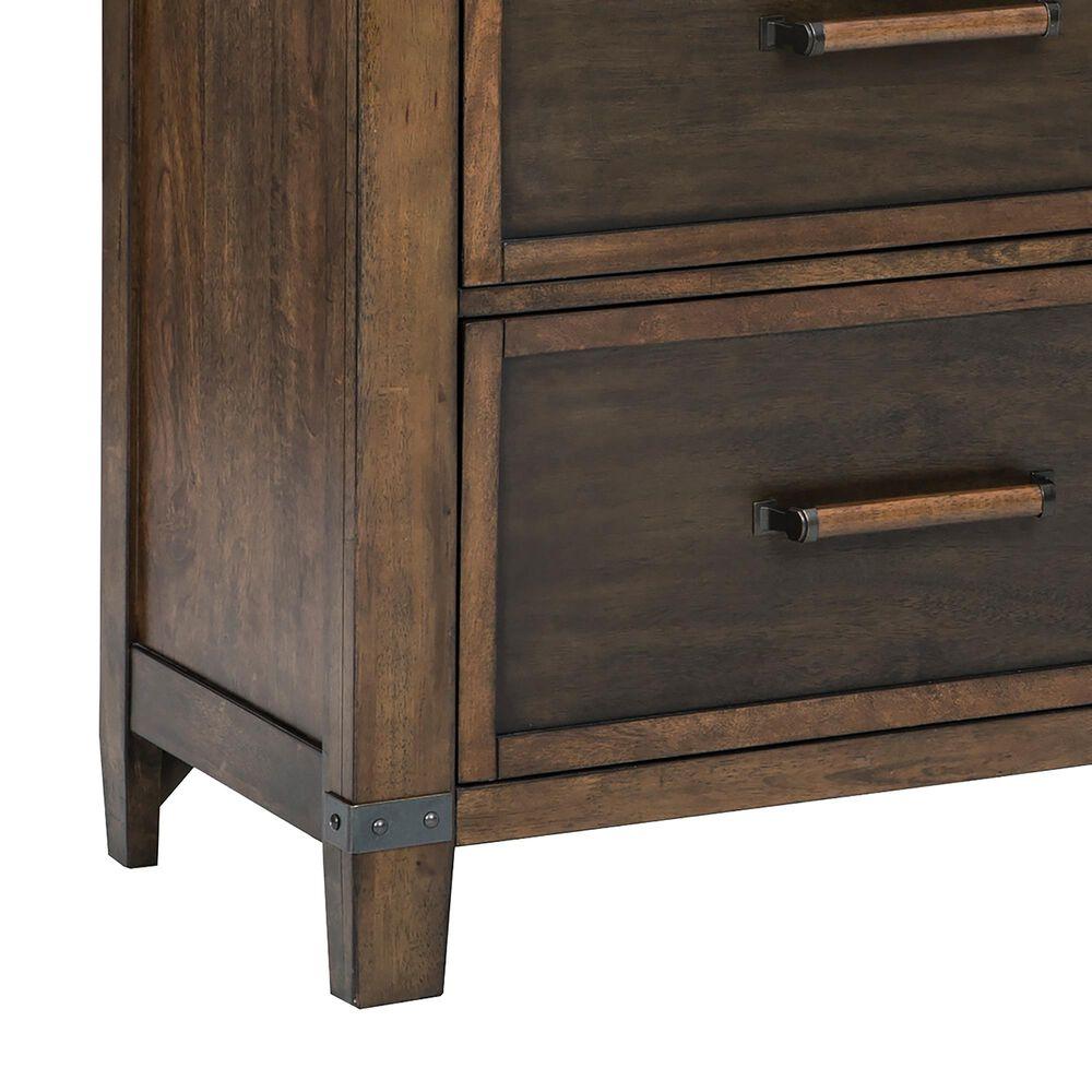 Signature Design by Ashley Wyattfield 6 Drawer Dresser and Mirror in Walnut Brown and Dark Burnt Umber, , large