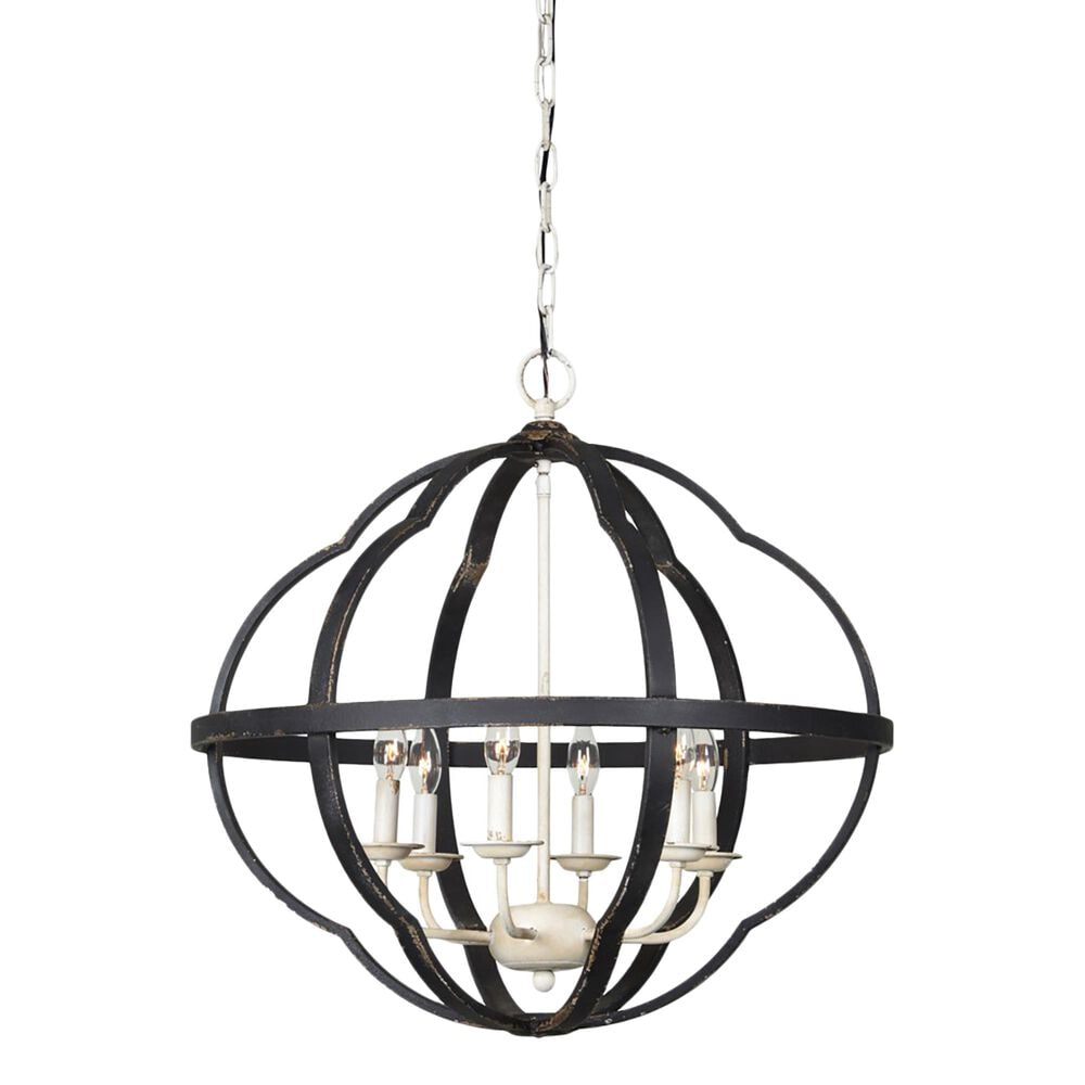 Southern Lighting Leo Chandelier in Black/Cream/Gold, , large