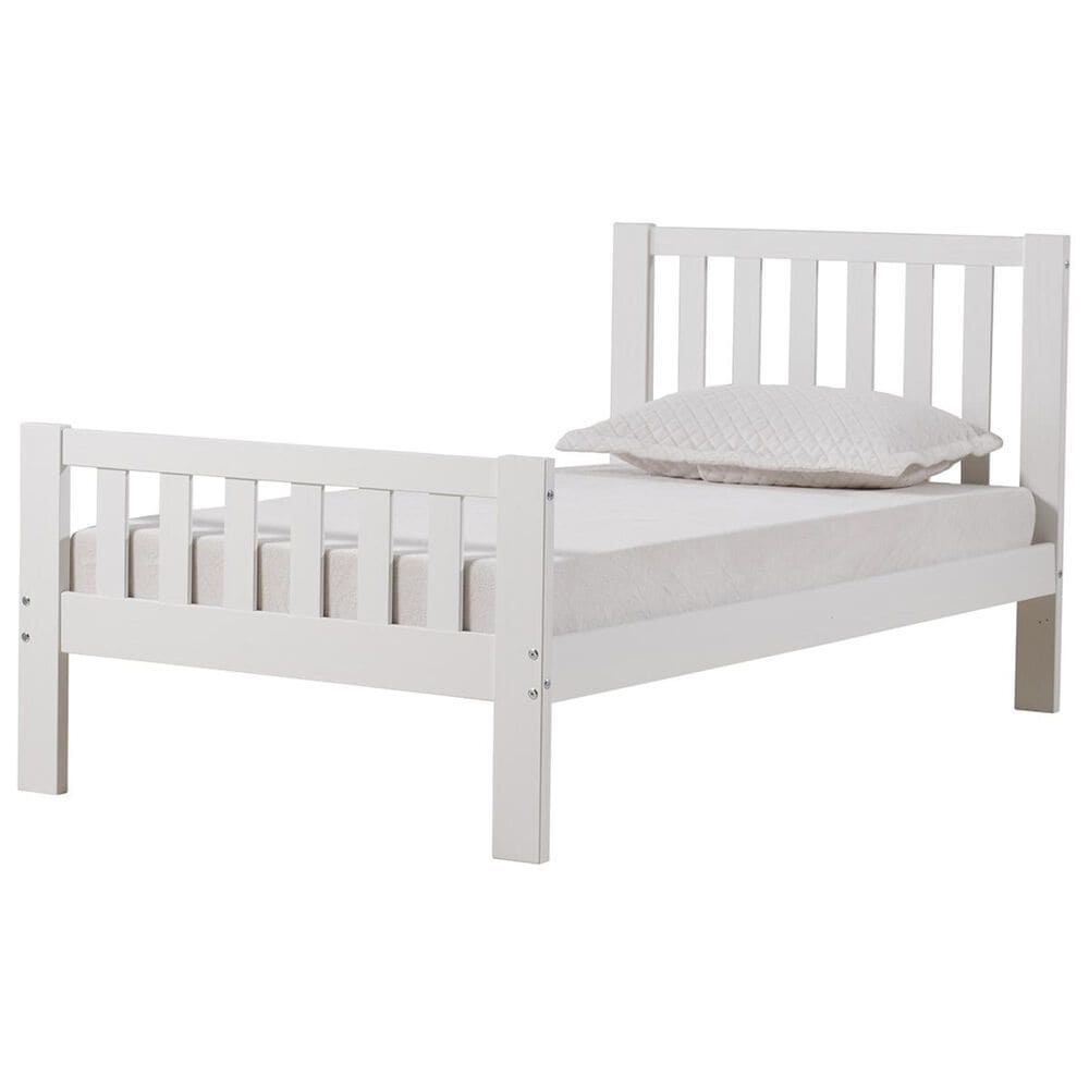 Bolton Furniture Aurora Twin Bed in White, , large