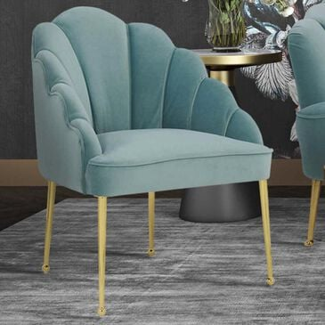 Tov Furniture Daisy Velvet Chair in Sea Blue, , large