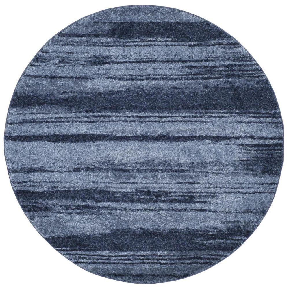 Safavieh Retro RET2693-6065 6' Round Light Blue and Blue Area Rug, , large