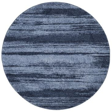 Safavieh Retro RET2693-6065 6' Round Light Blue and Blue Area Rug, , large