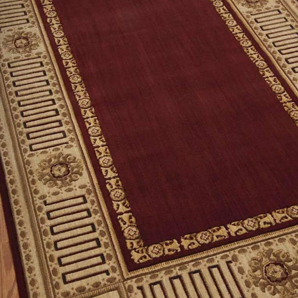Nourison Vallencierre VA17 2' x 3' Burgundy Area Rug, , large