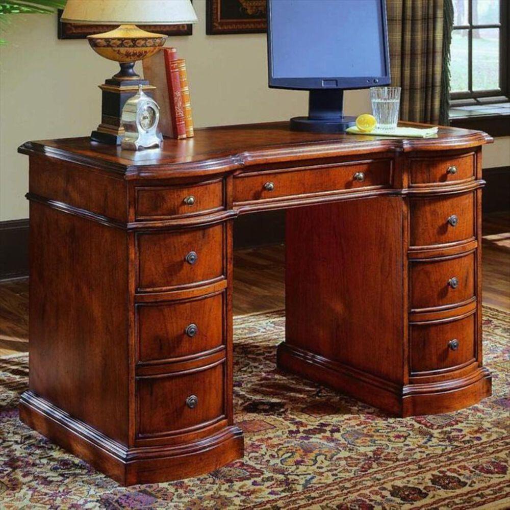 Hooker Furniture Seven Drawers Knee Hole Desk, , large