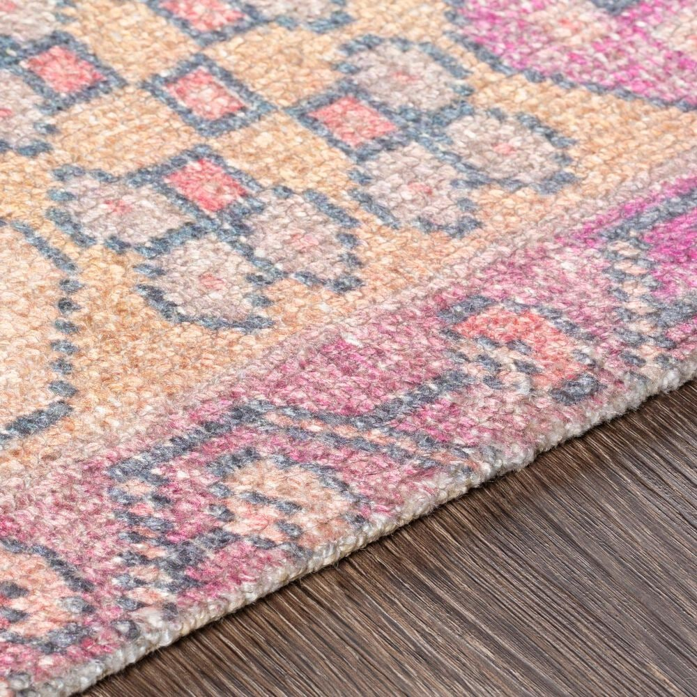 Surya Unique UNQ-2302 2' x 3' Yellow, Pink and Denim Area Rug, , large
