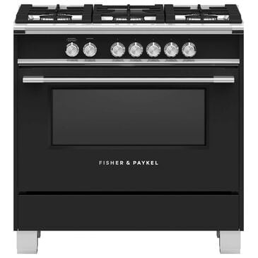 "Fisher and Paykel 36"" Freestanding Classic Dual Fuel Ranges in Black, , large"