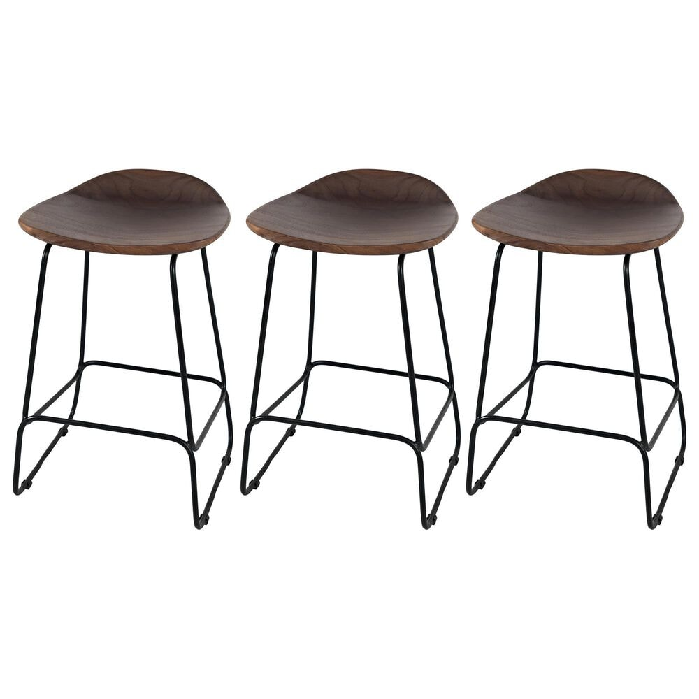 Waltham Nature's Edge Backless Stools in Slate (Set of 3), , large