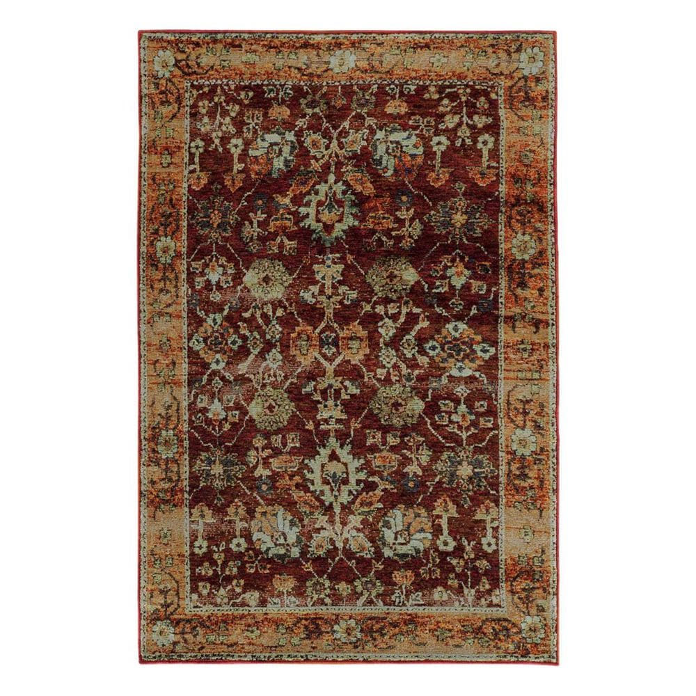 """Oriental Weavers Andorra 7154A 5'3"""" x 7'3"""" Red Area Rug, , large"""
