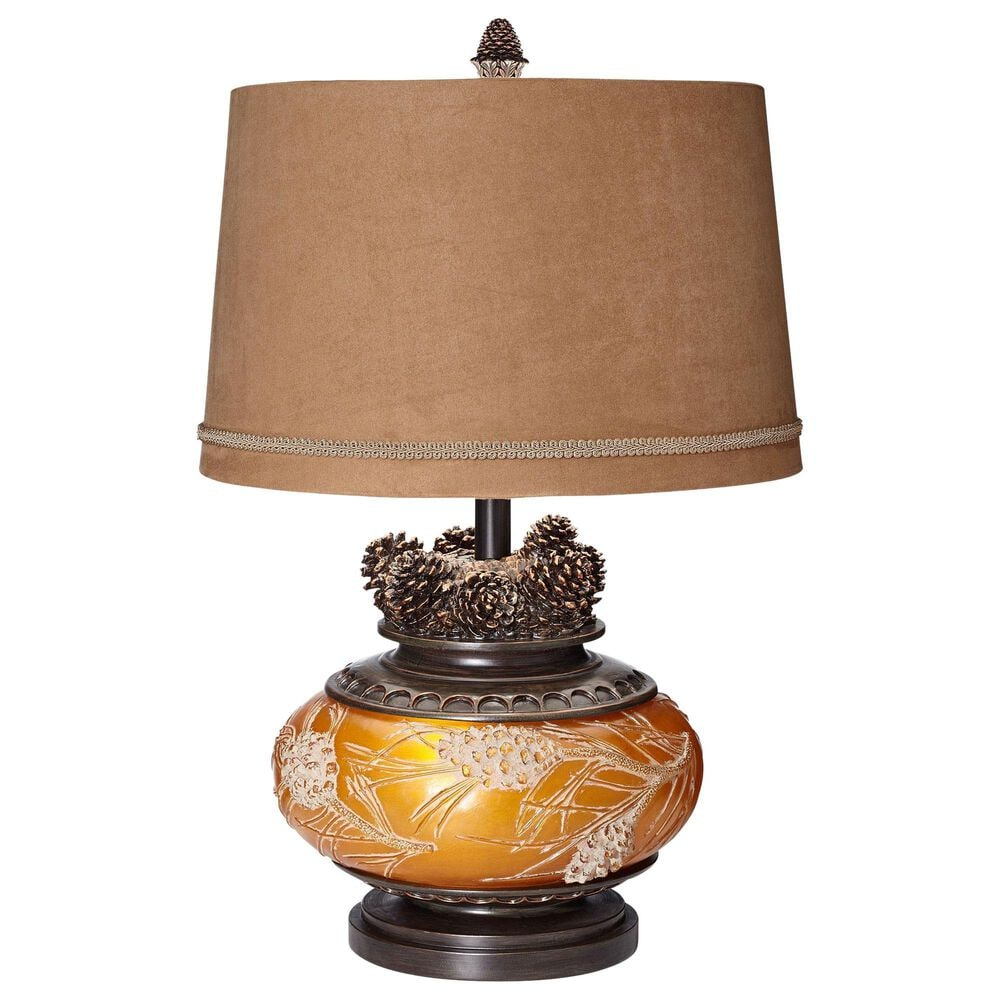 Pacific Coast Lighting Pine Peak Table Lamp in Etruscan Gold, , large