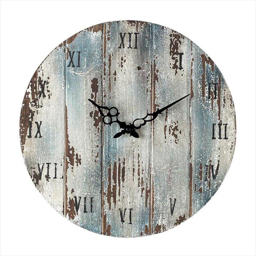 Sterling Roman Numeral Wall Clock in Belos Dark Blue, , large