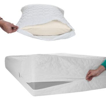 Timberlake Twin Bed Bug Dust Mite Cotton Mattress & Pillow Protector, , large