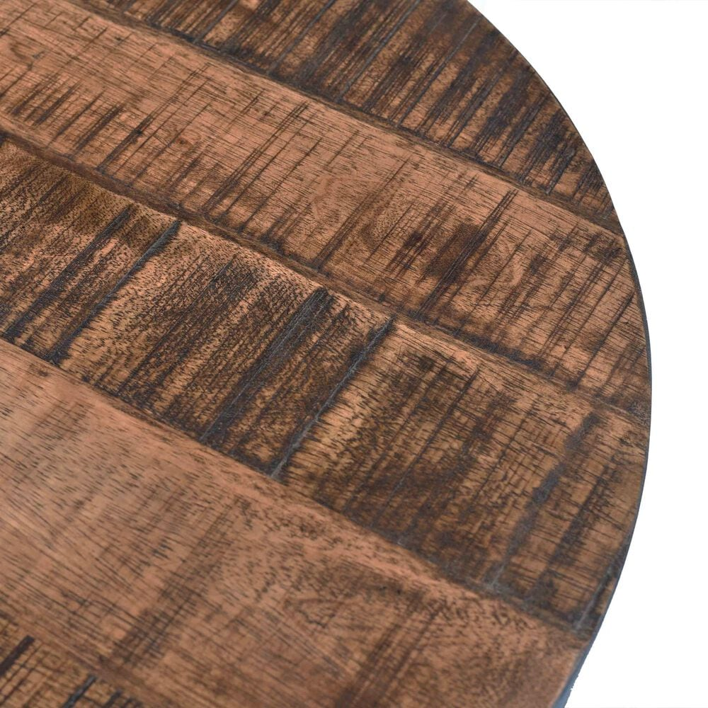Shell Island Furniture Round Adjustable Accent Table in Braden Natural & Restoration, , large