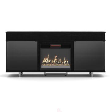 "Fabio Flames Enterprise 72"" Media Fireplace in Black, , large"