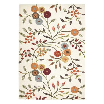"""RIZZY Dimensions DI1466 2'6"""" x 8' White Runner, , large"""