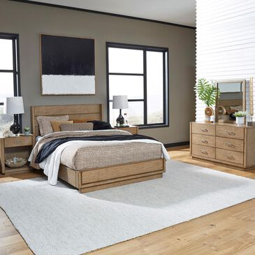 Home Styles Big Sur 4 Piece Queen Bed Set in Oak, , large